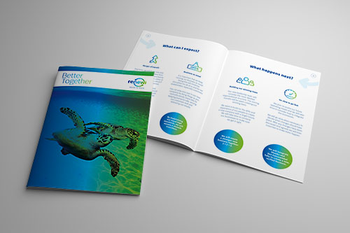 We produced a large and varied suite of internal comms collateral for the launch – this is the employees' introductory brochure